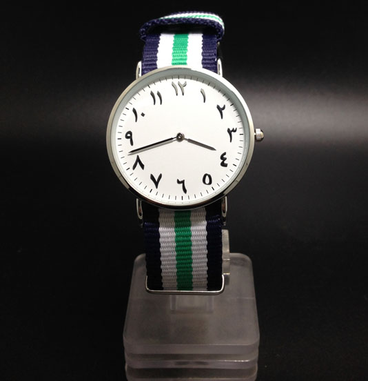 Simple Design Watches Urdu Dial Face Adjustable Navy Straps  pure white dial face ziz time watches navy