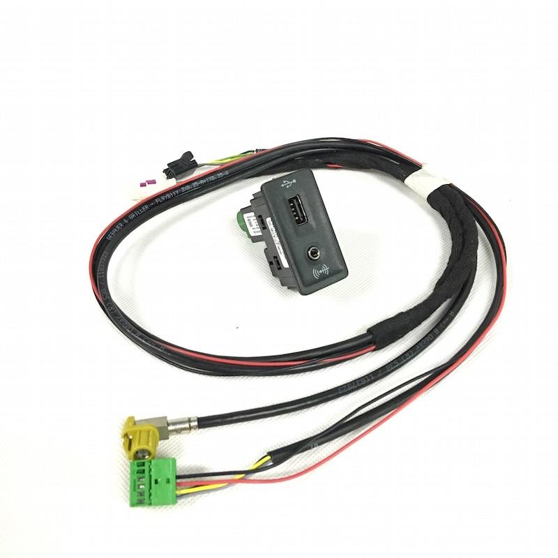 BODENLA CarPlay Cap Socket With Wire/Cable/Harness MDI USB AMI For VW Golf 7 MK7 5G0 035 222 E 5G0035222E(China)