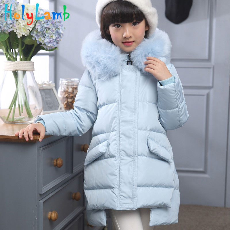 Girl's Down Jackets/coats Winter Russia Baby Coats Thick Duck Warm Jacket Children Outerwears -30degree Jackets 2016 Fashion fashion boys down jackets coats for winter warm 2017 baby boy thick duck down coat real fur children outerwears for cold winter