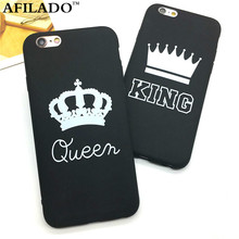 Fashion Brand King Queen Soft TPU Ultra Thin Back Covers for IPhone 6 6s 5 5s SE Phone Cases Silicone Luxury Crown Slim Shell