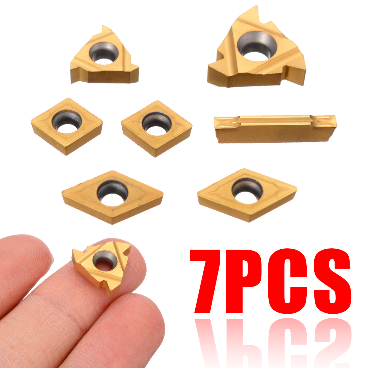 7pcs MGMN200 External Turning Tools Carbide Inserts Cutting Lathe CNC Cutter Tools For 12mm Shank
