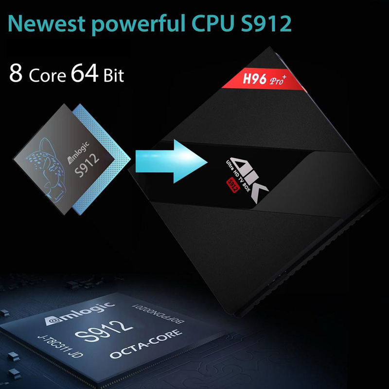 Image 5 - Orignial H96 pro plus Smart Android 7.1 TV Box 2GB 3GB 16GB 32GB Amlogic S912 Octa Core 2.4G 5.8G WiFi H.265 4K IPTV Youtube-in Set-top Boxes from Consumer Electronics