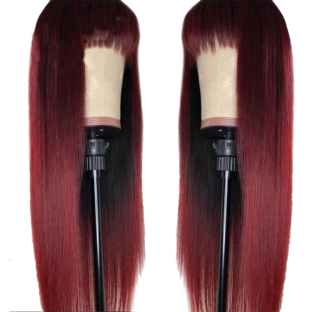Human Hair Lace Wigs Purposeful Eversilky Straight Hair Wig 13x6\13x3 Lace Front Human Hair Wigs With Bangs For Women 360 Lace Frontal Wig Brazilian Remy Hair Spare No Cost At Any Cost Lace Wigs
