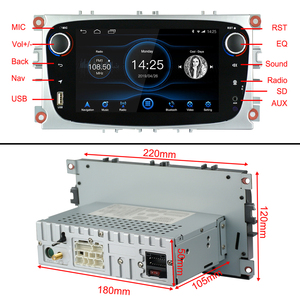 Image 5 - Android 8.1 for Ford Focus Mondeo Galaxy S max Car Stereo Autoradio 2GB DDR3 Octa Core 7Screen Touch GPS Bluetooth Headunit WiFi