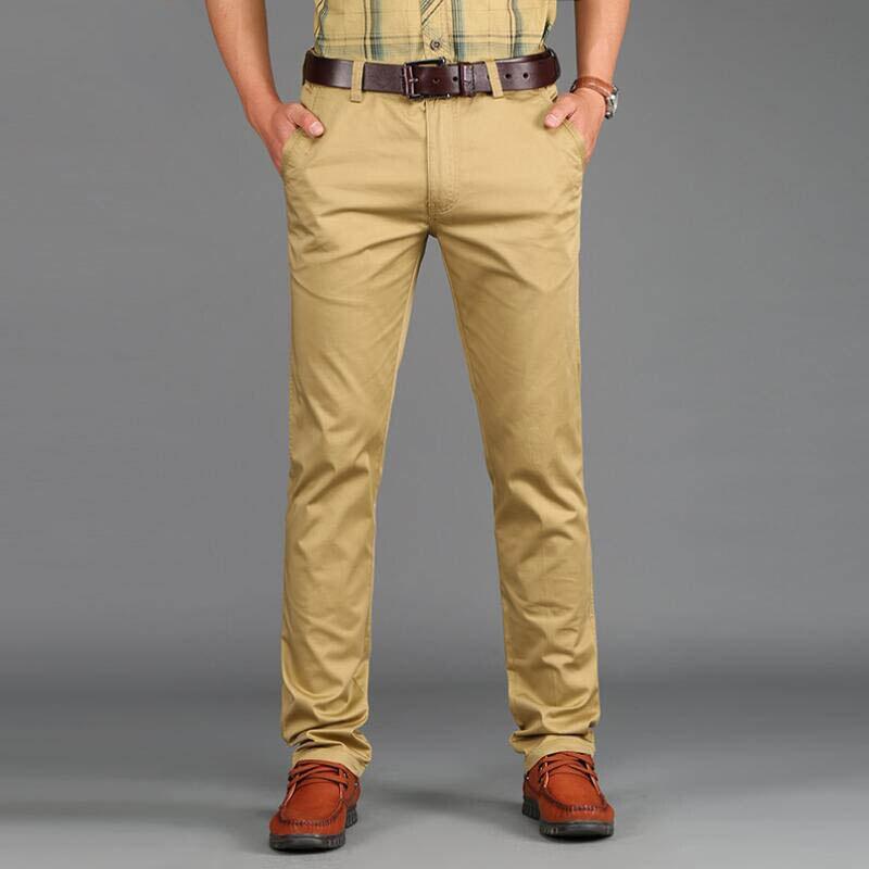 2019 tavaszi alkalmi férfi nadrág vékony nadrág Slim Fit 97% - Férfi ruházat - Fénykép 2
