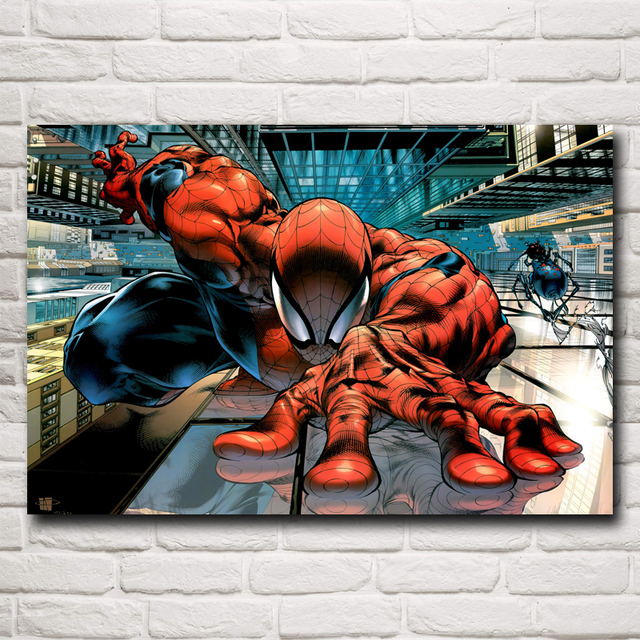 Super Hero Spider-Man Movie Art Silk Fabric Poster Print Home Wall Decor Picture 12×18 16X24 20×30 24×36 Inches Free Shipping
