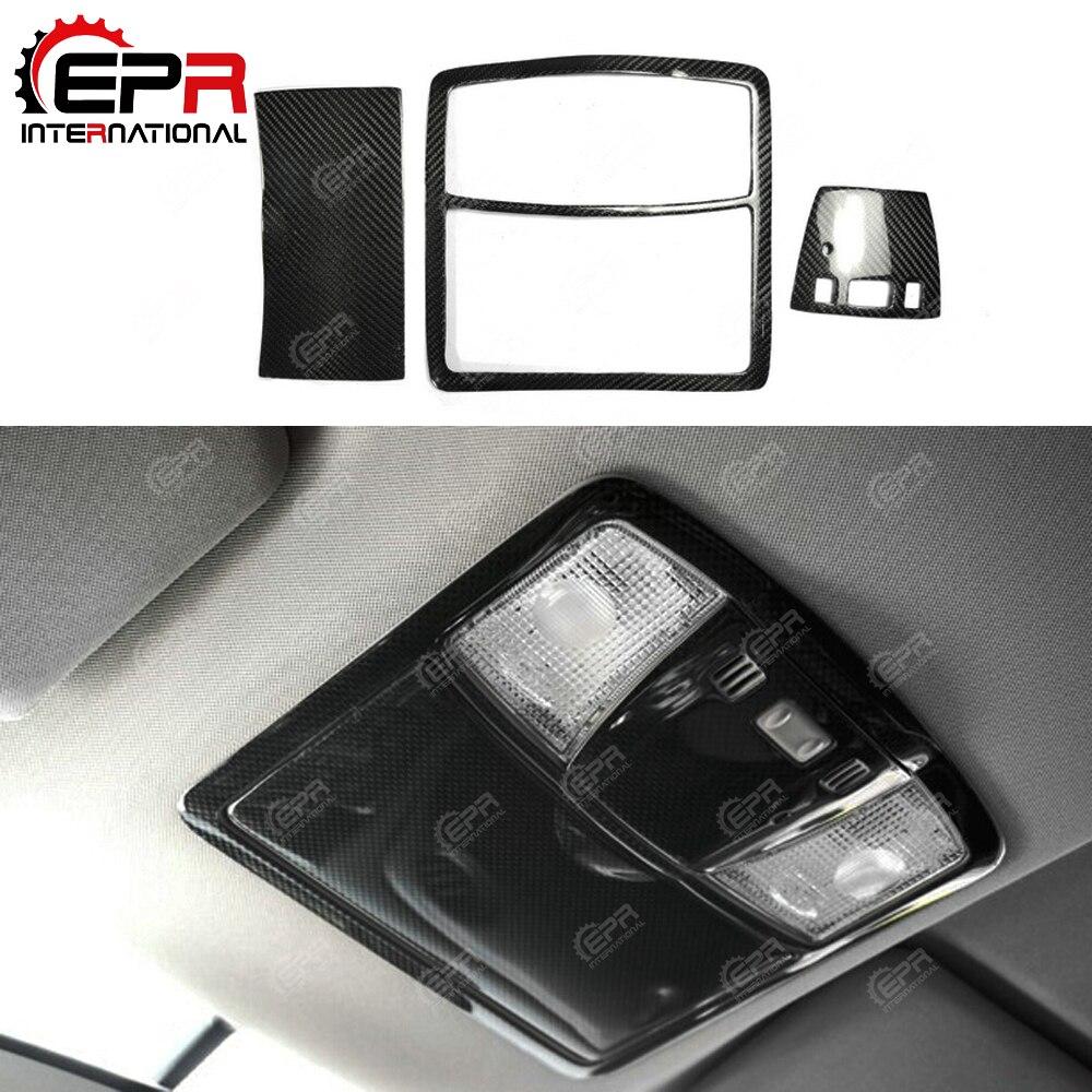 Auto-Styling GT-R in Fibra di Carbonio Mappa Luce Surround Trim Set Lhd Finitura Lucida Interno Deriva Trim Fibra di Sintonia Kit per Nissan R35 Gtr