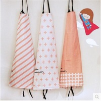 Fresh Pink Plain Simple Household Kitchen Aprons Cotton Aprons Bibs Nordic Cooking Cleaning Stain71 5CM 58CM