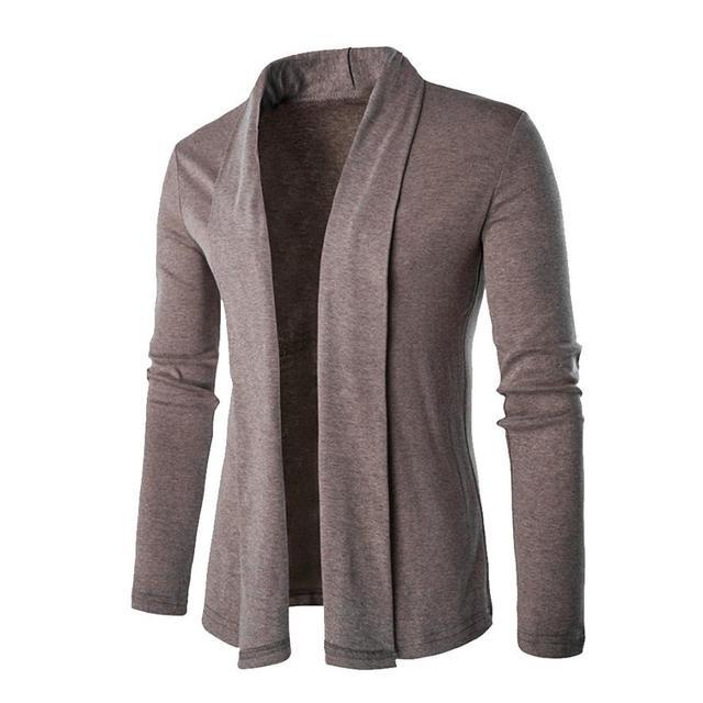 Estándar limitada Sólido Completo Ninguno de Algodón Cardigan Suéteres Nueva Conciso delgado No Suelta Abrigo de Cuello V Hombre Tejer Suéter de Los Hombres No29