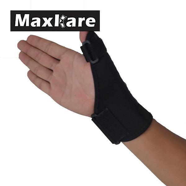 Maxkare Sport Black Thumb Protector Thumb Brace Hand Wrist Brace Guard Wrap Glove Support Gym Adjustable Equipment