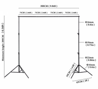 6x10ft Photography Background Frames Manual Quality Aluminum Frame 2x3m Backdrop Stand For Photo Studio Accessories Spport