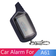 Hohe Qualität Zweiwegautowarnungssystem Fernbedienung Für starline A61 LCD display Auto Alarmanlage Heißer verkauf