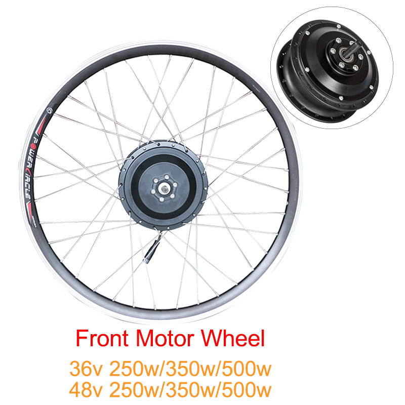 <font><b>36V</b></font> 48V 250W 350W 500W ebike kit Electric bike conversion kit front <font><b>motor</b></font> wheel Brushless gear <font><b>motor</b></font> wheel for e bike kit image