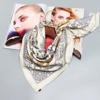 Animal Print Large Square Silk Scarf Shawl Women 100 Real Silk Scarves Wraps Hijab For Hair