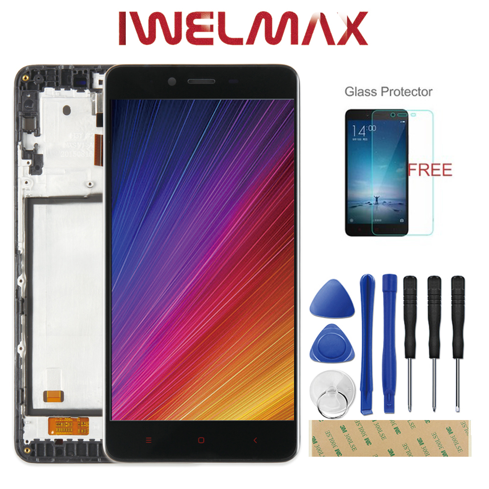 100% Tested For XiaoMi Redmi Note 2 LCD Display Touch Screen With Frame Assembly Replacement For XiaoMi Redmi Note 2 Prime