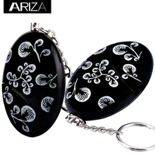 Waterproof self defense Personal Alarm Keychain Emergency  keychain alarm Batteries Included Black printing