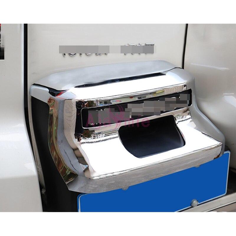 Accessoires pour Toyota Land Cruiser 150 Prado LC150 FJ150 2018 cadre de plaque d'immatriculation ABS couvercle Chrome voiture-style
