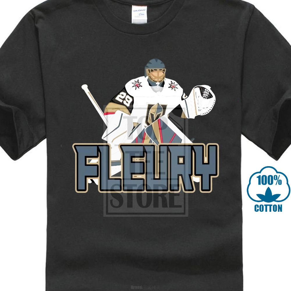new product 09664 12b77 Marc Andre Fleury Las Vegas Golden Knights Fleury T Shirt Gift Print T  Shirt Hip Hop Tee T Shirt New Arrival Tees Causal