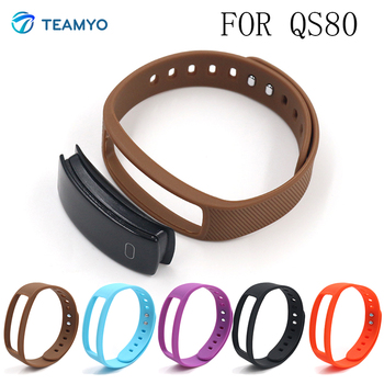 Teamyo Replace Strap for QS80 Silicone Wristband cicret bracelet Smartband smart wristband Wearable devices strap Accessories magnetic attraction bluetooth earphone headset waterproof sports 4.2