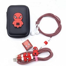 Cartoon USB Cable Earphone Protector Set With Earphone Box Cable Winder Stickers Spiral Cord Protector For iphone 5s 6 6s 7 cartoon usb cable earphone protector set with earphone box cable winder stickers spiral cord protector for iphone 5s 6 6s 7