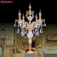 Современные Кристалл Настольная лампа для гостиной рядом с кроватью роскоши кристалл настольная лампа современный американский K9 Роскошн