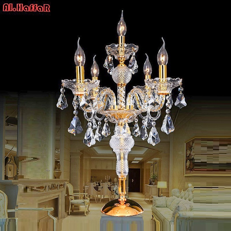 Modern crystal table lamp for living room beside bed luxury crystal table lamp modern american K9 luxury crystal decoration lamp minimalist warm bedroom beside k9 crystal table lamps luxury living room study desk lamps modern clear gray crystal table lamp