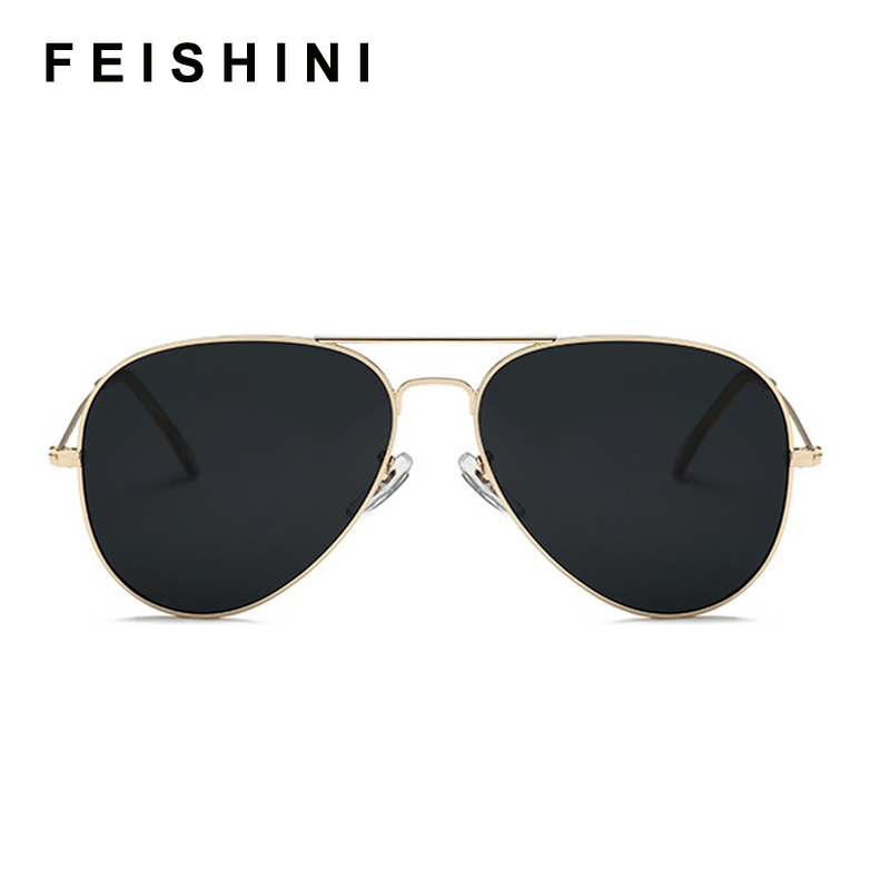 Image 3 - FEISHINI Brand Advanced 16g Stainless Steel Pilot Sunglasses Men Polarized Driving Clear Mirror Sunglass Women UV Protection-in Men's Sunglasses from Apparel Accessories