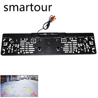 smartour EU license plate frame reversing camera HD night vision with led light camera infrared ccd parking rear view imag