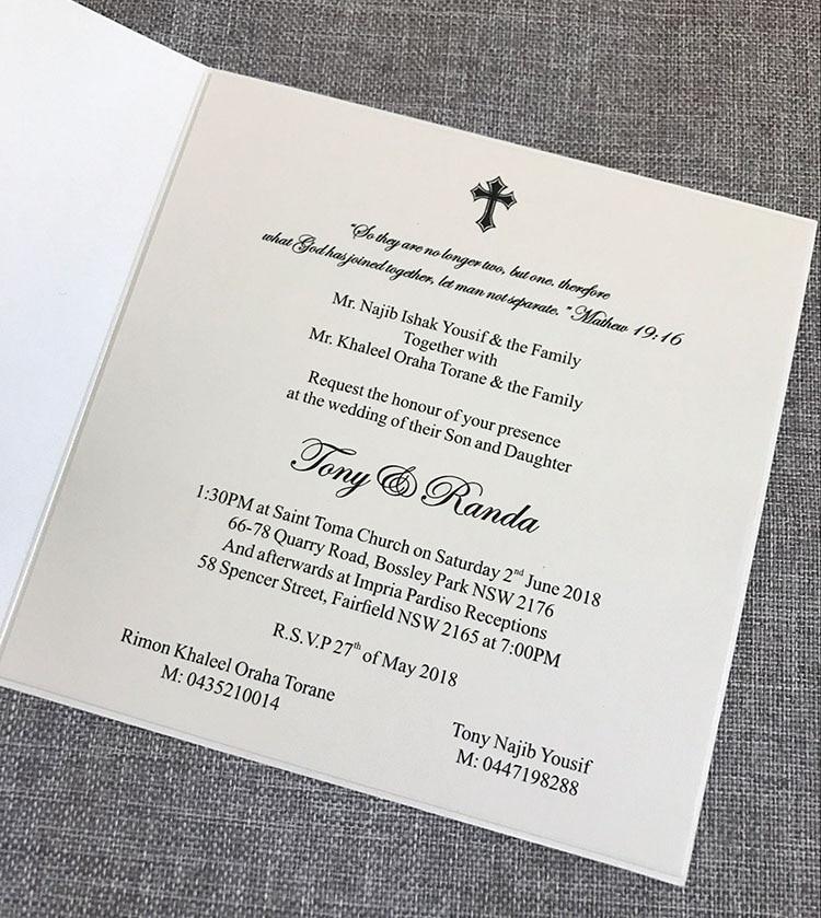 CA0721 Luxury handmade personalised Embossed Wedding Invitations-in ...