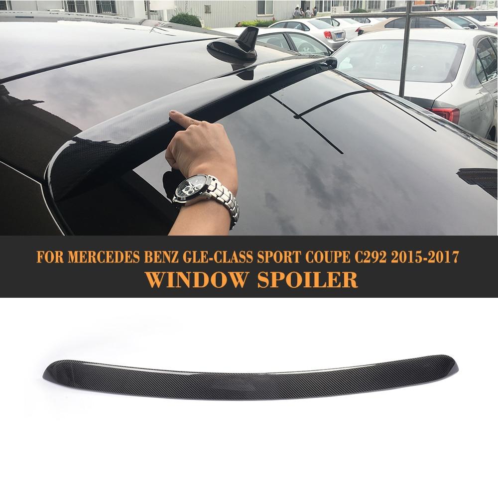 GLE Class Carbon Fiber Rear Window Spoiler Roof Lip Wing untuk Mercedes Benz C292 Sport GLE43 GLE63 AMG Sedan 2015-17 Not Standard
