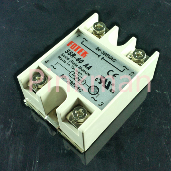1 pc FOTEK 60AA Solid State Relay  SSR  Single Phase AC-AC normally open single phase solid state relay ssr mgr 1 d48120 120a control dc ac 24 480v