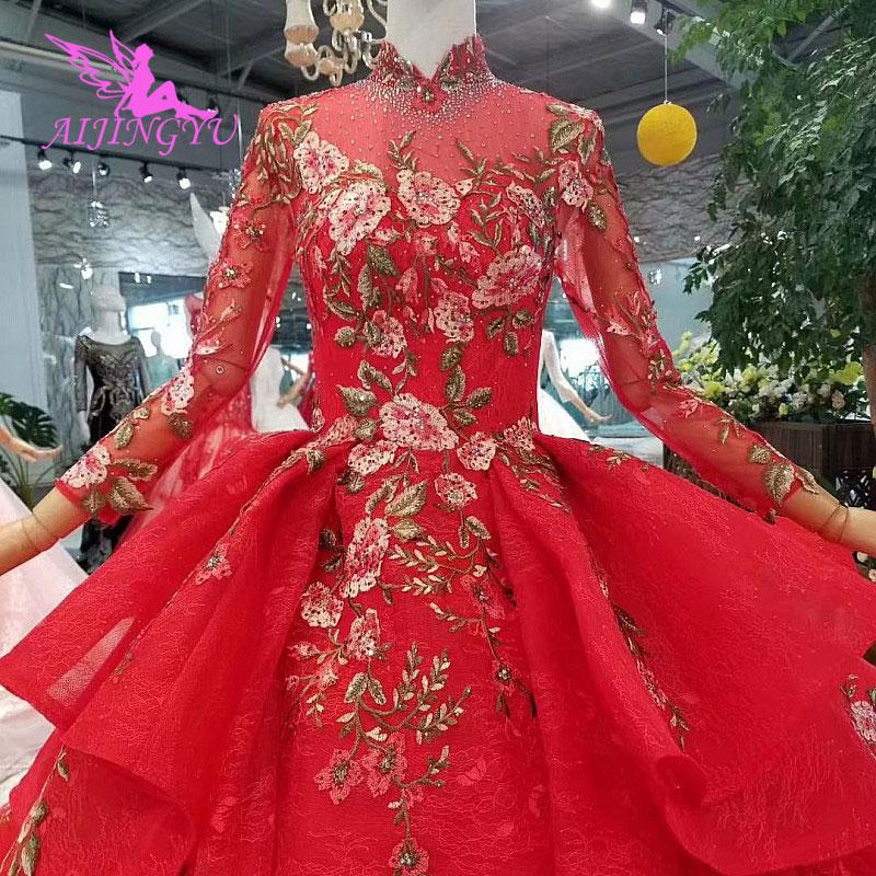 AIJINGYU Little White Dress Gown Party Modest Customs