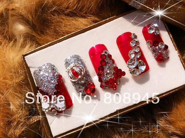 Rhinestone Nail Designs For Salon 10000pcs Lot 3MM DK Green Color Acrylic Nails Supplies Decoration Glitter In Rhinestones Decorations From Beauty