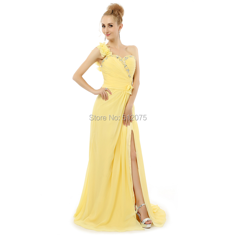 Popular Yellow Chiffon Wedding Dress-Buy Cheap Yellow Chiffon ...