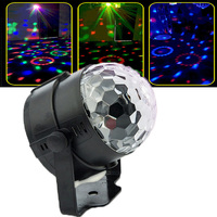 Colorful Disco Ball Lumiere 3W Sound Activated Strobe Led RGB Stage Lighting Effect Lamp Laser Christmas