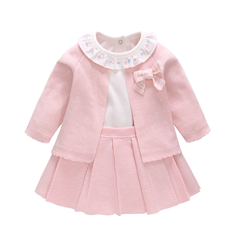 Vlinder Newborn Baby Girl Dress Baby girl clothes set  Kids Party Birthday Outfits  Infant Baby Girl Suspender Dress 3pcs set