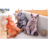 50CM Gray Cat Anime Stuffed Plush Toy Dolls Cute Animal Toys for Children High Quality Cartoon Birthday Christmas Kids Gift
