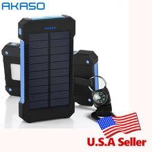 Água para Todo o Telefone Móvel com Uma 100% Original Waterproof Solar 10000 Mah Dual Usb Carregador À Prova D' Bússola