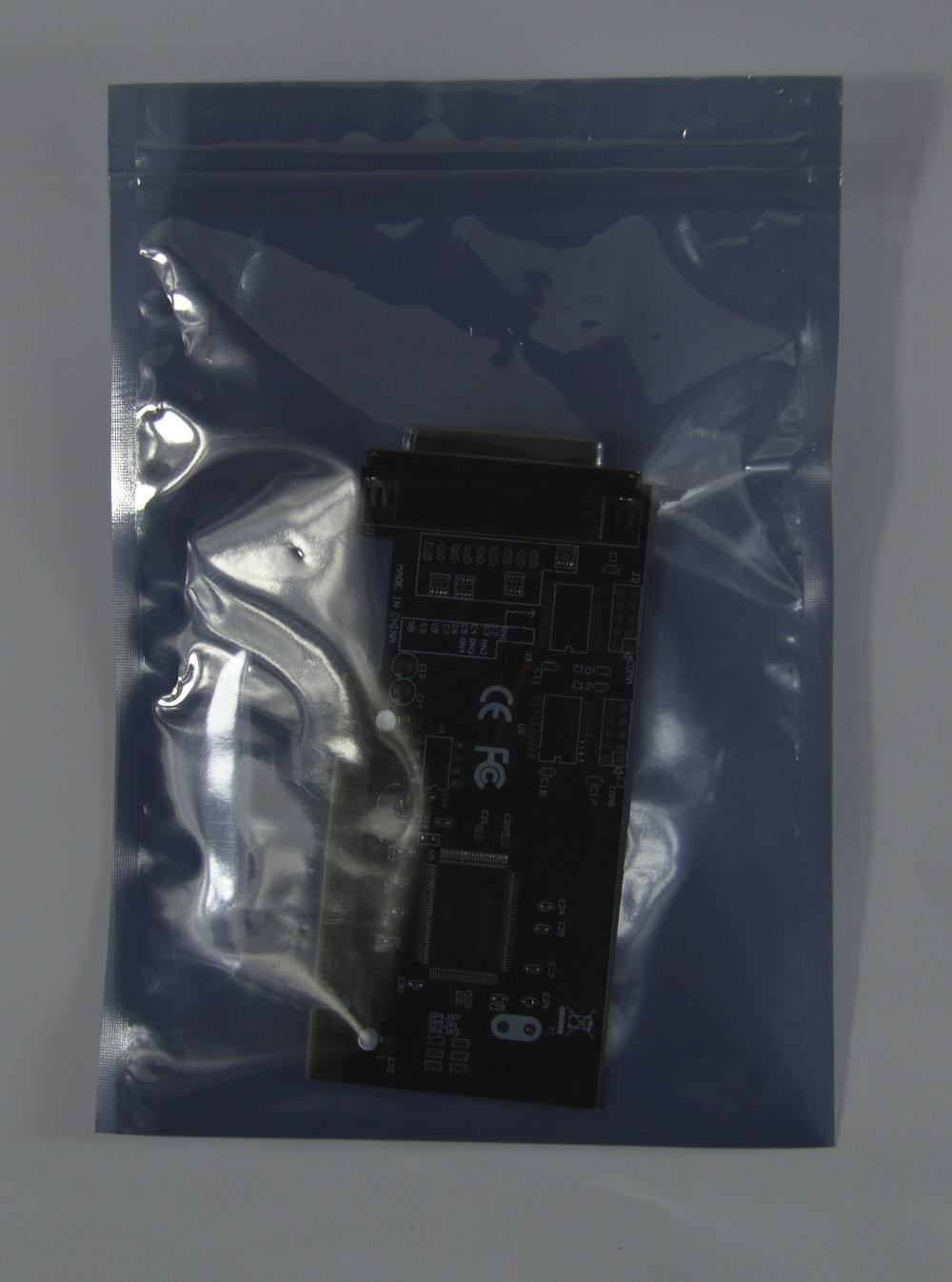 100Pcs 6 * 9cm Or  2.36 * 3.54inch Anti Static Shielding Bags Zipper Lock Top Waterproof Self Seal ESD Anti-Static Pack Bags