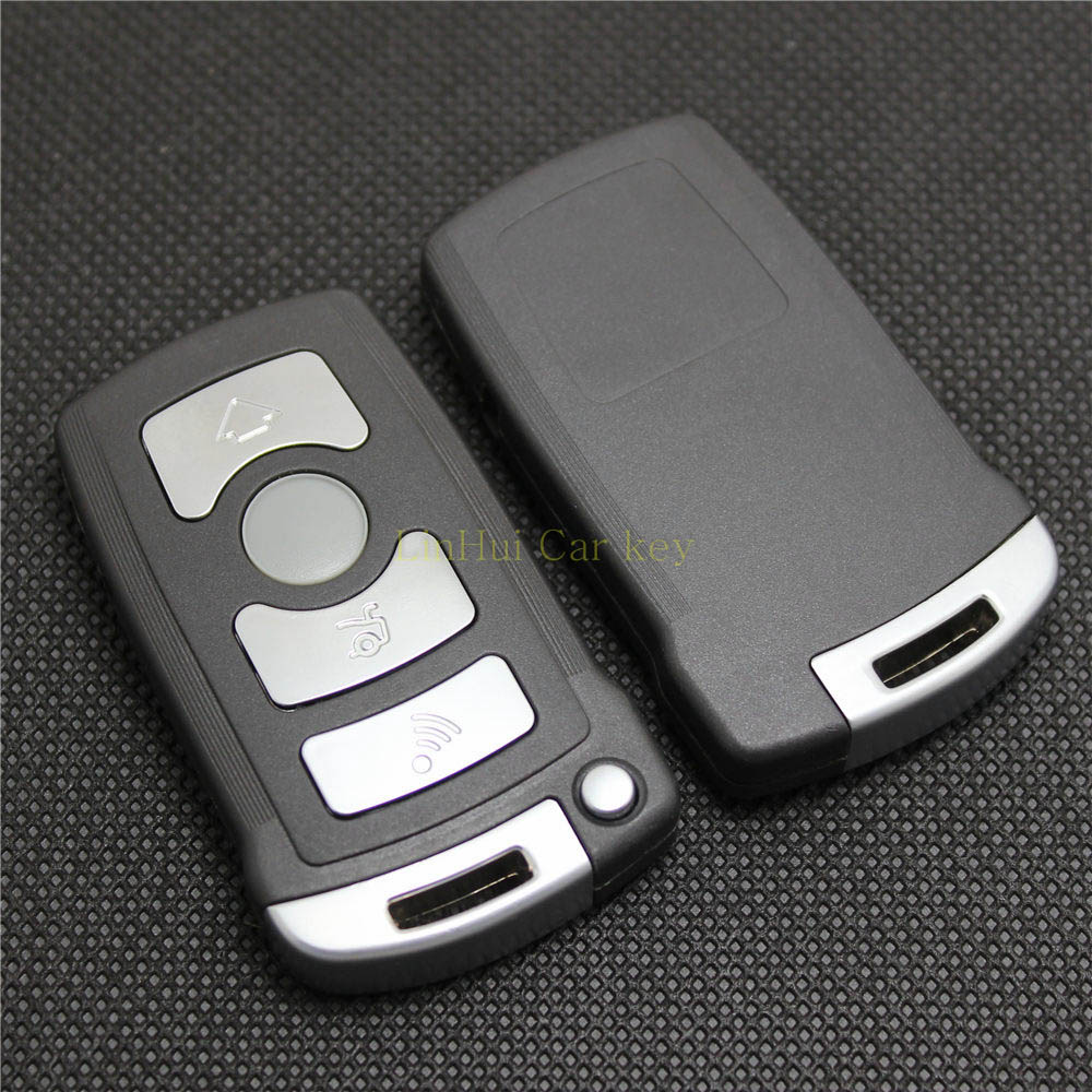 PINECONE Key Case for BMW <font><b>7</b></font> Series 730 740 745 <font><b>750</b></font> 760 E66 Car Key Remote Smart Key Shell Cover <font><b>3</b></font> Buttons With Uncut Blade 1PC image