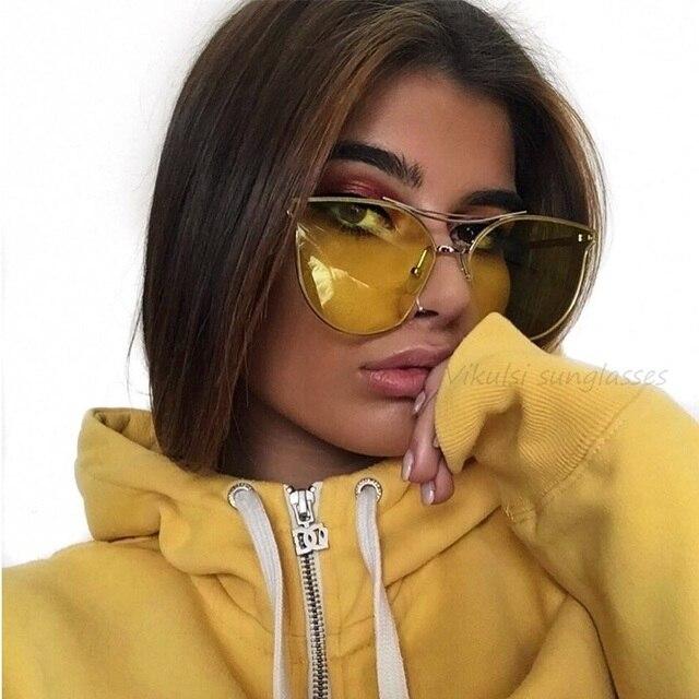 b96397b206037 2017 Nova Marca de Luxo Designer óculos de Sol Transparentes Matel Quadro  Das Mulheres Dos Homens