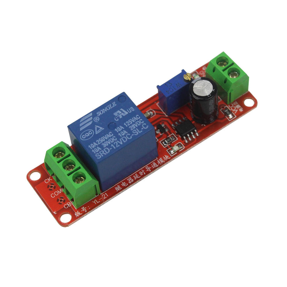 Smart Electronics NE555 DC 12V Delay Relay Shield Timer Switch 0~10S Adjustable Module dc 12v led display digital delay timer control switch module plc automation new