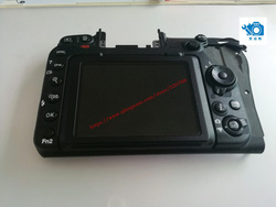 NEW  original  D500 back cover with LCD back shell with menu button FPC flex cable 1223R forNiko
