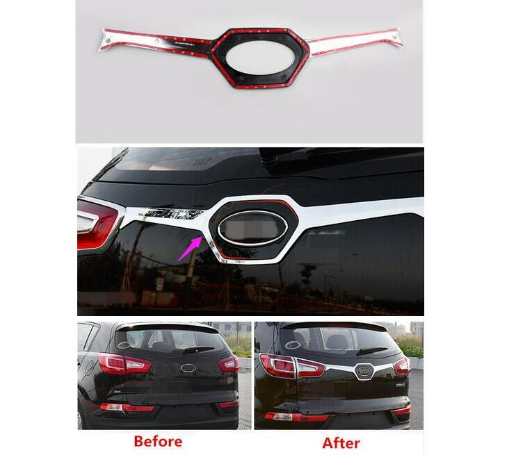 ФОТО For Kia Sportage R 2011 2012 2013 2014 2015 Abs 1Pcs Car-Styling Rear Trunk Trim Tail Door Sill Scuff Plate