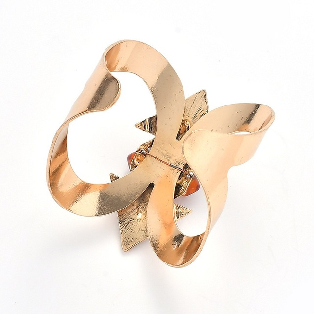 Vintage Gold-Plated Cuff Bracelet