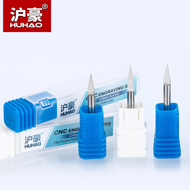 HUHAO 10pcs/lot <font><b>CNC</b></font> Engraving Bits Shank 3.175mm End Mill TOP Quality <font><b>CNC</b></font> Router Bit Degree 20 25 30 <font><b>40</b></font> <font><b>60</b></font> 90 Milling Cutter image