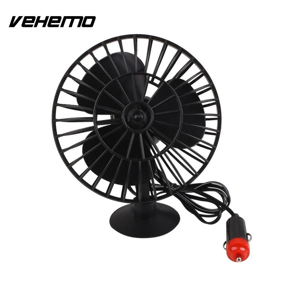 12V Portable Summer Supplies Mini Auto Car Truck Vehicle Cooling Adsorption Air Fan Black  200w auto car portable heater fan dryer defrost black 12v