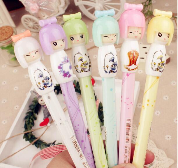 1 шт. японская кукла девочка дизайн гелевая ручка принцесса ручка Канцелярские Caneta офисные Материал школьные принадлежности