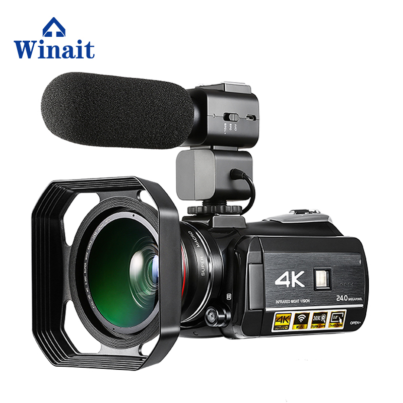 Winait UHD 4k WIFI digital video camera with 3.0'' Touch display wifi night vision digital video camcorder free shipping