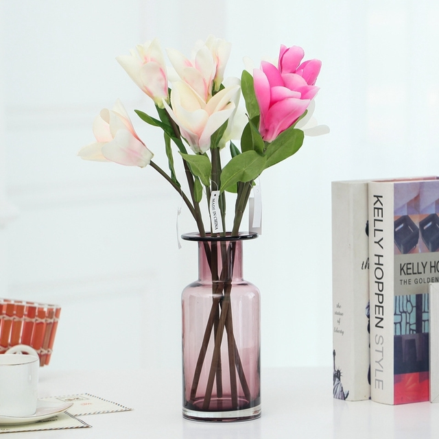European Modern Fashion Glass Flower Vase Home Decoration Small